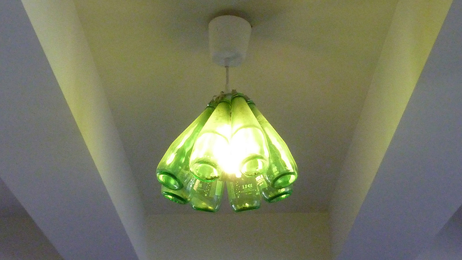 installation example, lights on.