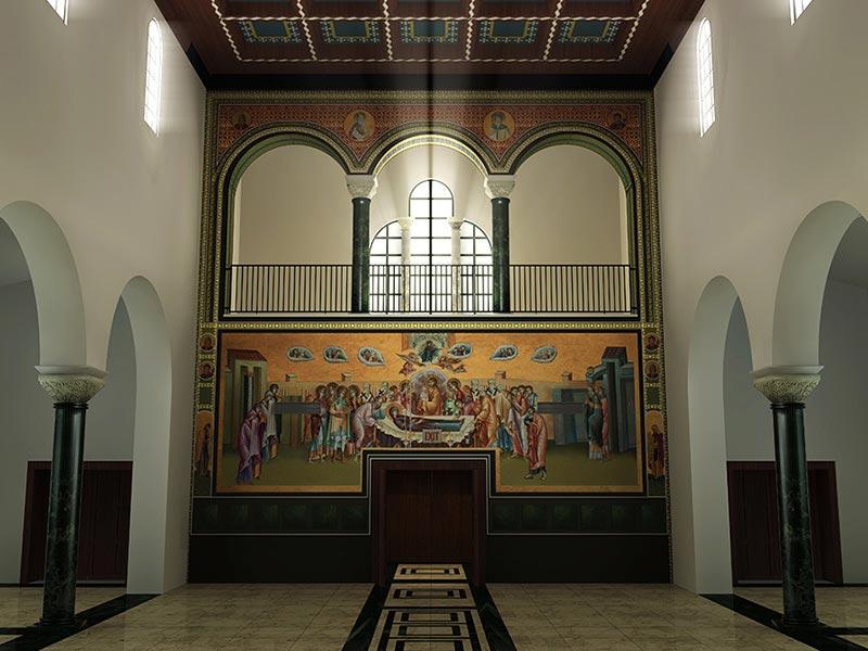 church interior feature